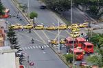 Trancón taxistas