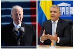 Joe Biden e Iván Duque, presidentes de Estados Unidos y Colombia