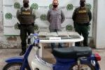 El capturado transportando 10 kilos de marihuana para ser distribuido en el municipio de  Yaguará