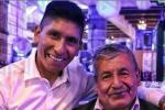 Nairo Quintana y su padre