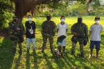Los jóvenes fueron rescatados en el corregimiento La Caucana en Tarazá, Antioquia.