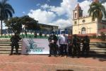 Guala de la Policía y del Ejército llegaron a San Antonio con campaña en contra de la extorsión