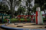 Infractores al toque de queda limpiaron el parque Galarza de Ibagué