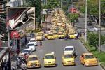 Con 'Plan Tortuga' taxistas recorrieron las calles de Ibagué