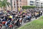 Con éxito se llevó a cabo multitudinaria 'rodada' de motociclistas por las calles de Ibagué
