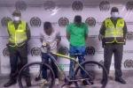 En una rápida reacción policial se logró la captura de dos sujetos y la recuperación de una bicicleta en Melgar