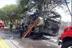 Se incendió una Rápido Tolima que cubría la ruta Puerto Boyacá – Ibagué