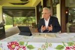 Expresidente Álvaro Uribe Vélez durante el encuentro con la Comisión de la Verdad