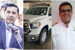 Alcalde Hurtado, concejal Correa y camioneta en Ibagué